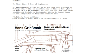 The Alpine Stube. A Space of Inspiration: Hans Grießmair